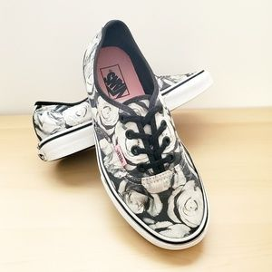 Womens Vans authentic (digi rose) black and white